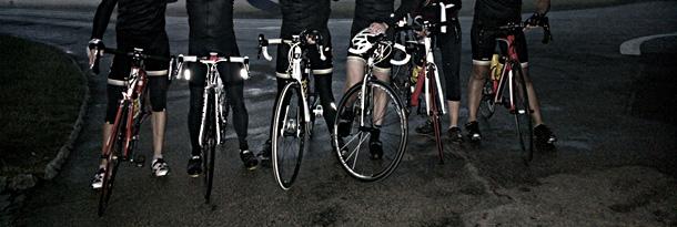 road bikes on road